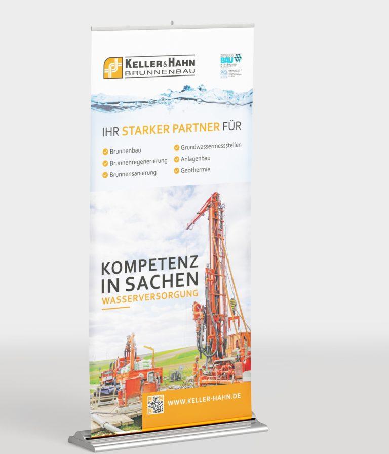 Messe-Rollup für Keller und Hahn