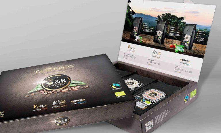 Gestaltung Kaffee-Box für CR - Coffee and Relax
