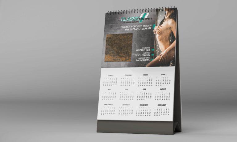 Gestaltung Kalenderkopf für CLASSIC-therm