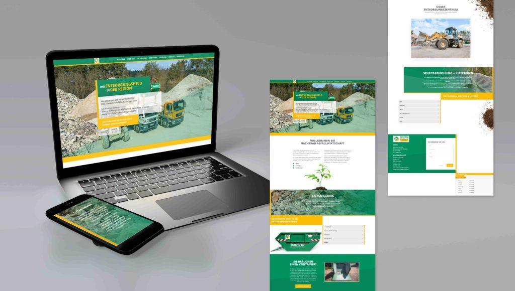 Nachtrab Abfallwirtschaft Webseite