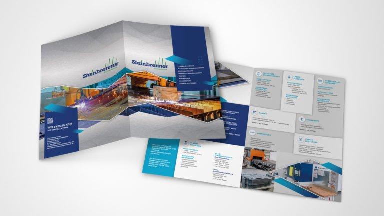 Firmeninformations-Faltblatt für Steinbrenner Schneidtechnik